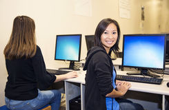 Laboratorio del computer Immagine Stock Libera da Diritti