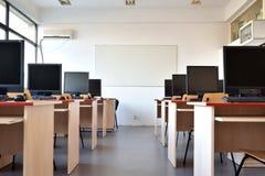 Laboratorio del estudiante del ordenador Fotos de archivo libres de regalías