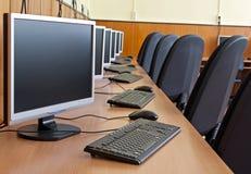 Laboratorio del ordenador Foto de archivo libre de regalías