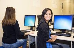 Laboratorio del ordenador Imagen de archivo libre de regalías