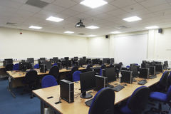 Laboratorio del ordenador Foto de archivo