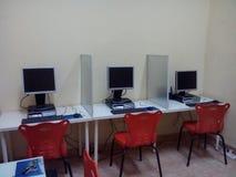 Laboratorio del ordenador Imágenes de archivo libres de regalías