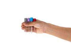 Laboratorio del tubo della tenuta della mano Fotografia Stock