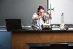 Laboratorio della scuola Immagini Stock