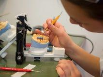 Laboratorio dentario fotografia stock