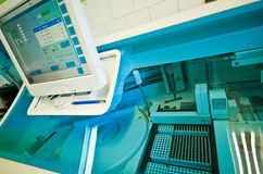 Laboratorio di analisi del sangue fotografie stock libere da diritti