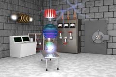 Laboratorio di scienza pazzo Fotografie Stock