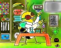 Laboratorio di At Work In dello scienziato dell'ape Fotografia Stock Libera da Diritti