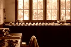Laboratorio en fábrica del té Foto de archivo libre de regalías