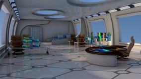 Laboratorio futuristico illustrazione vettoriale