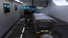 Laboratorio futuristico di architettura della stanza Fotografie Stock Libere da Diritti