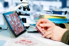 Laboratorio genetico Fotografia Stock Libera da Diritti