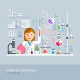 Laboratorio médico conceptual ilustración del vector