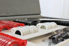 Laboratorio médico lentes para el diagnóstico de la visión fotografía de archivo libre de regalías