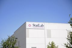 Laboratorio medico di StatLab, Lewisville, il Texas fotografie stock