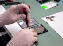 Laboratorio para recuperar datos Foto de archivo libre de regalías