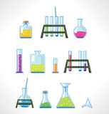 Laboratorio químico ilustración del vector
