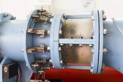 Laboratorio a scuola Tubi del metallo Fotografia Stock Libera da Diritti