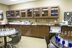 Laboratorio sensoriale nella distilleria selvaggia della Turchia Bourbon fotografia stock