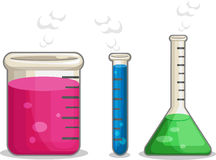 Laboratorium化学制品烧瓶 免版税库存图片