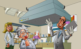 laboratorium royaltyfri illustrationer