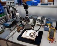 Laboratorium dla target25_0_ dane Zdjęcia Royalty Free
