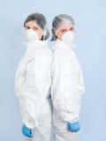 laboratorium för 02 flickor Arkivfoto