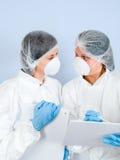 laboratorium för 05 flickor Arkivbilder