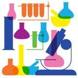 Laboratorium i edukaci ikona - zlewka Zdjęcie Royalty Free