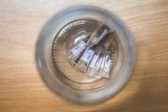 Laboratorium próbki na stole Zbierać próbki fotografia royalty free