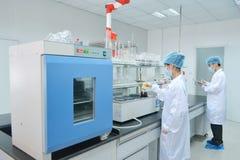 Laboratoriumexperiment royalty-vrije stock foto's