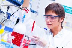Laboratoriumforskningutveckling av cellterapi Arkivbilder