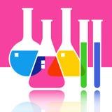 Laboratoriumglasföremål stock illustrationer