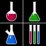 Laboratoriumglasföremål vektor illustrationer