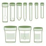Laboratoriumglasföremål från plast- royaltyfri illustrationer