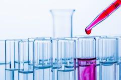 Laboratoriumglaswerk in laboratorium Royalty-vrije Stock Foto
