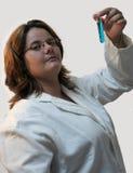 laboratoriumlady royaltyfria foton