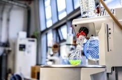 Laboratoriummateriaal voor distillatie bij verminderde druk royalty-vrije stock foto's