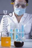 Laboratoriummedewerker op het werk Royalty-vrije Stock Foto