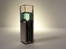 Laboratoriumprövkopior för kemi och bioteknik som isoleras arkivbild