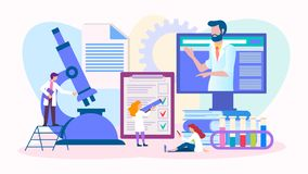 Laboratoriumprov för diagnos royaltyfri illustrationer