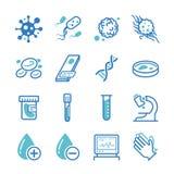 Laboratoriumsymbolsuppsättning royaltyfri illustrationer