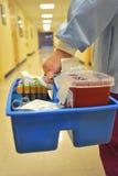 Laboratoriumtechnicus in het Ziekenhuis royalty-vrije stock afbeelding