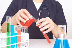 At the laboratory Royalty Free Stock Photography