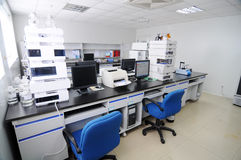 Laboratory. Physical and chemical laboratories, taken in China Pharmaceutical Stock Photos