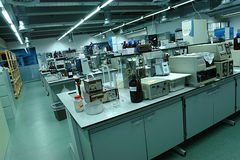 Laboratory. Overview of a generic laboratory with all the materials Royalty Free Stock Photo