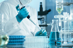 Laboratory. Scientist working at the laboratory Royalty Free Stock Photography