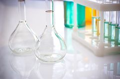 Laboratory. Technology and scientific research, chemical flask royalty free stock images