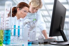 Laboratory. Group of scientists working at the laboratory