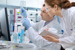 Laboratory. Group of scientists working at the laboratory Royalty Free Stock Image